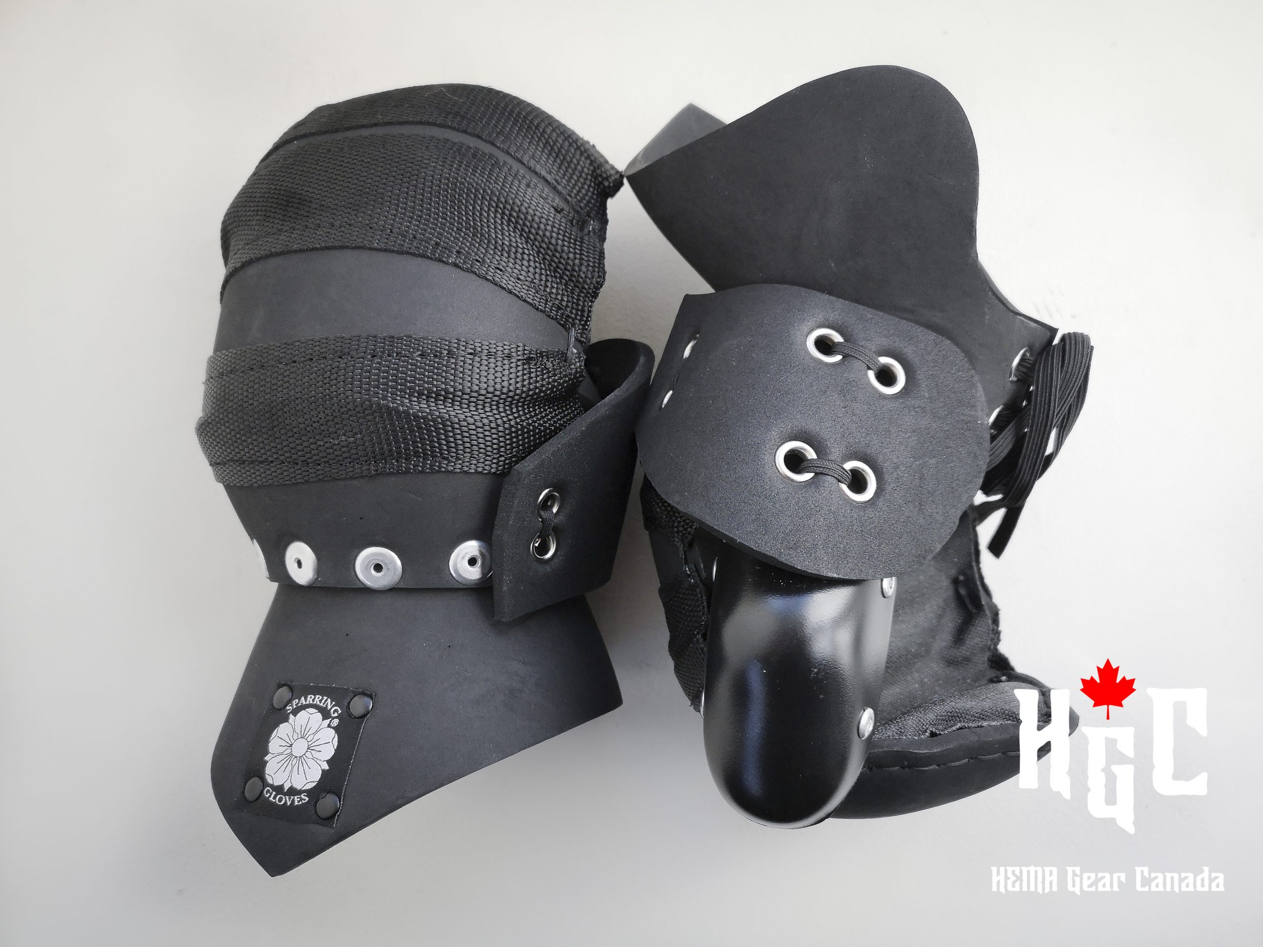 Sparring Gloves Mitten with Hourglass Cuff (Large,Black) Image