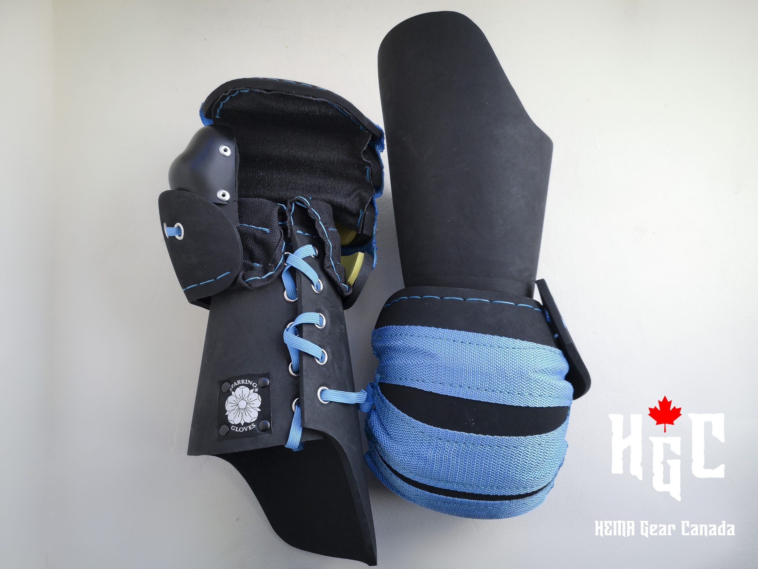 Sparring Gloves Mitten with Long Cuff (Medium, Blue) Image